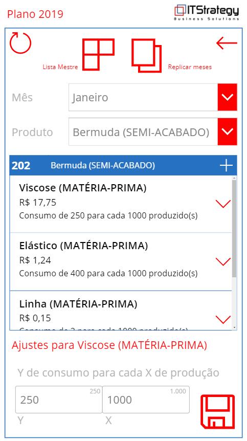 Planejamento estratégico pelo celular - lista técnica